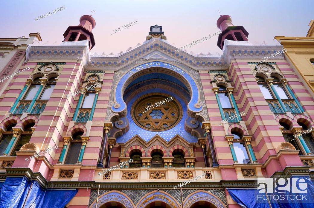 Stock Photo: Prague Czech Republic. Jerusalem Synagogue.