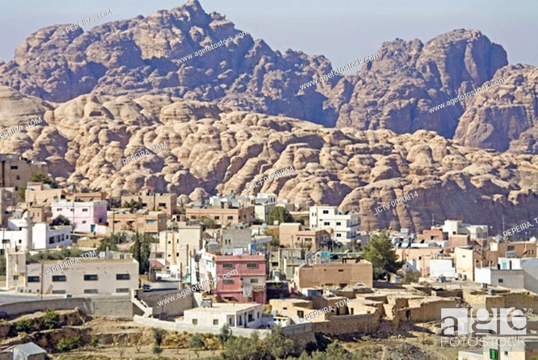 Stock Photo: Jordan, Oum Sayoum, Bedouin village.