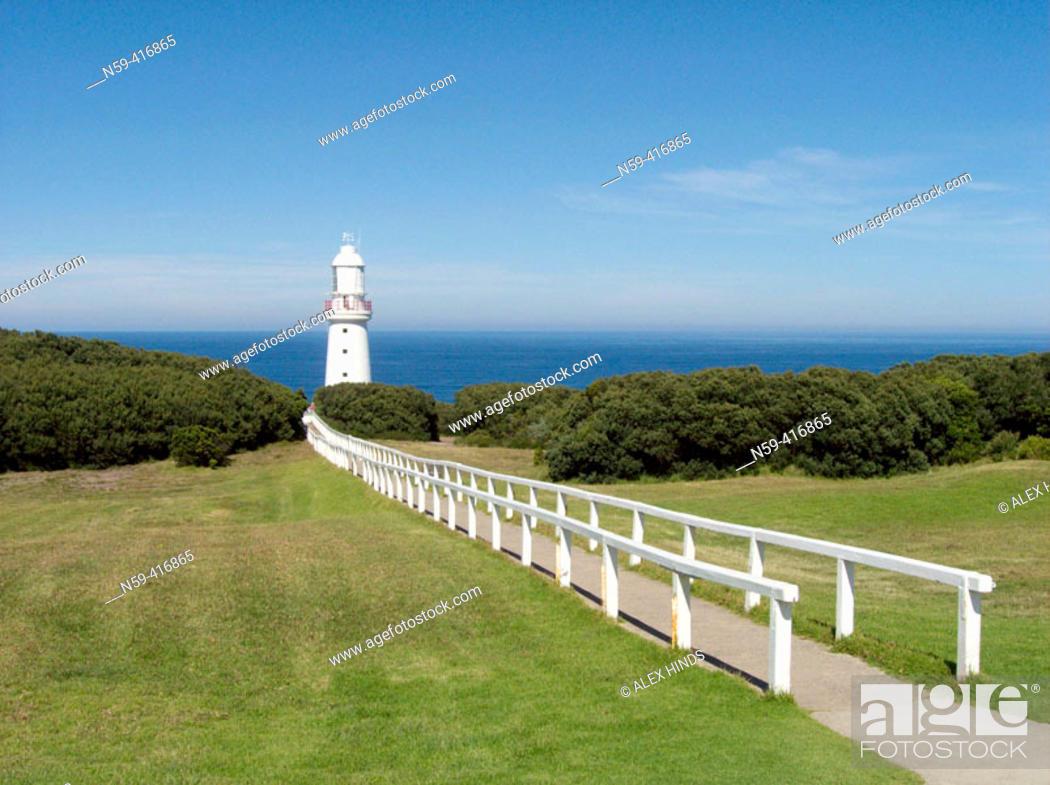 Stock Photo: Cape Otway lighthouse, on the Great Ocean Road. Victoria, Australia.