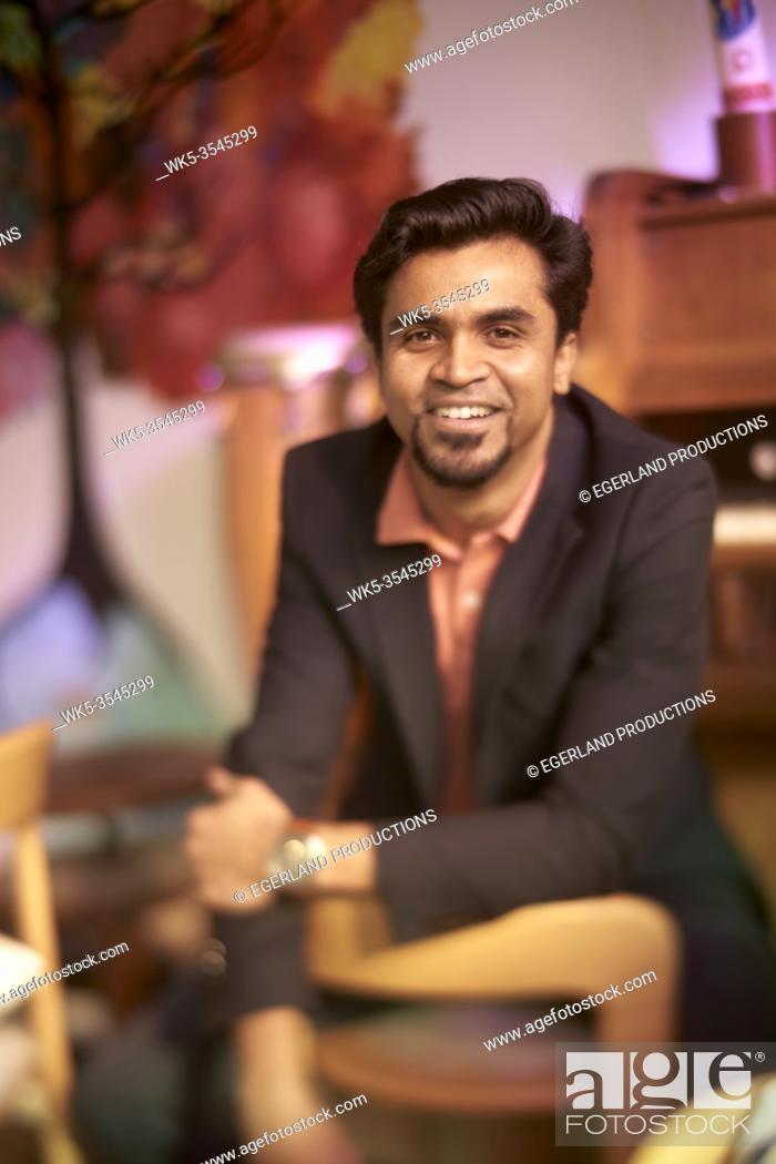 Stock Photo: happy Indian man.