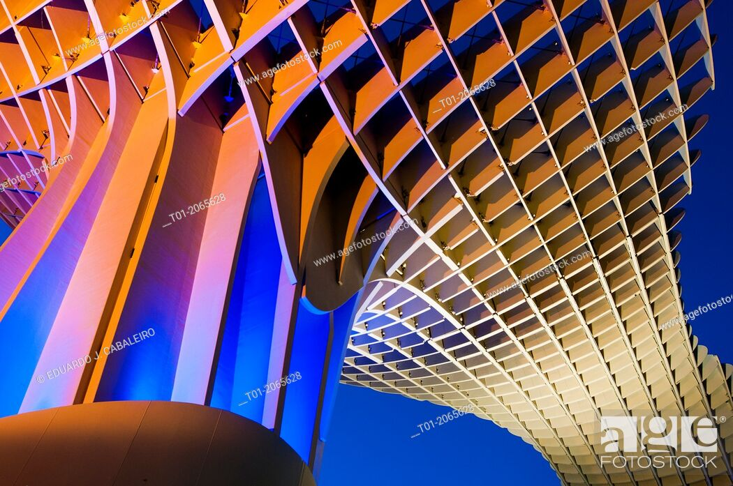 Stock Photo: Setas. Metropol Parasol of Encarnacion. Seville. Andalucia. Spain.