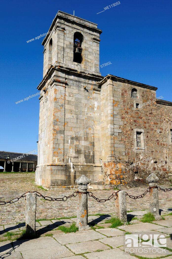 Imagen: Europe, Spain, Castile and Leon, Castilla y Leon, Sierra de Francia, small chapel at monastery on Pena de Francia mountain on the St James way public ground.