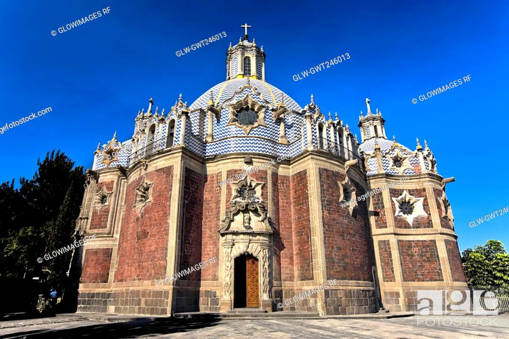 Stock Photo: Low angle view of a cathedral, Templo Del Pocito, Mexico City, Mexico.