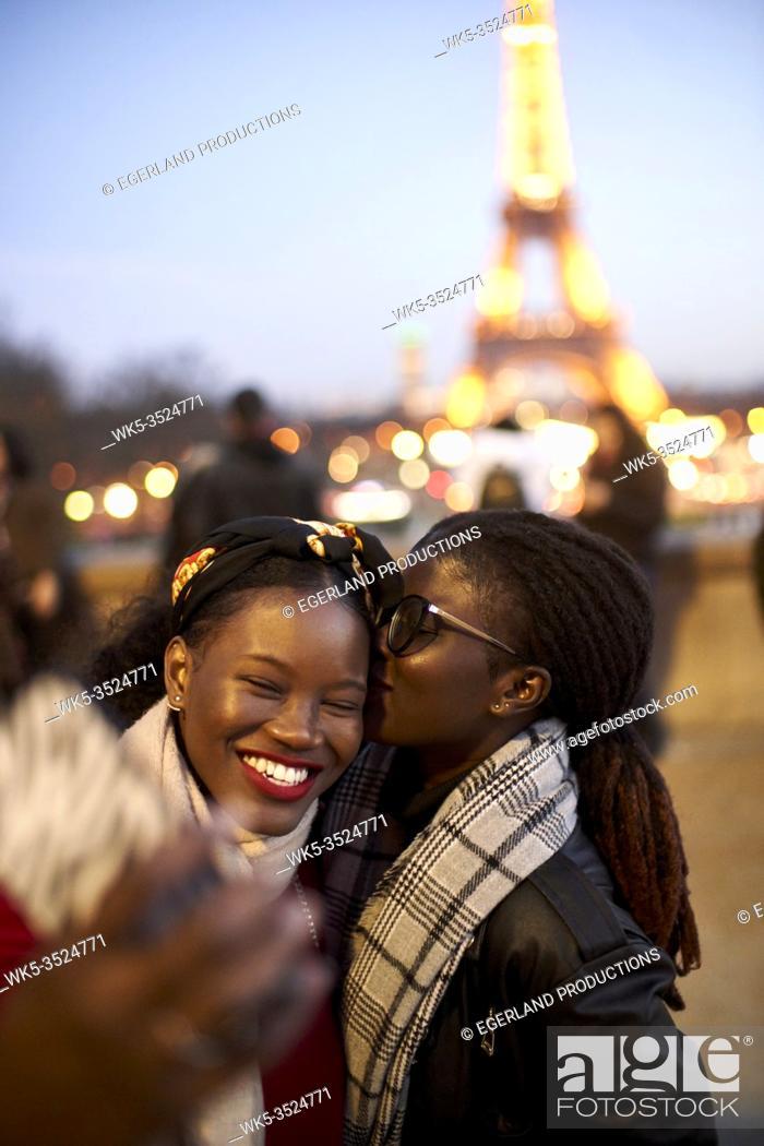 Stock Photo: Two women. Paris, France.