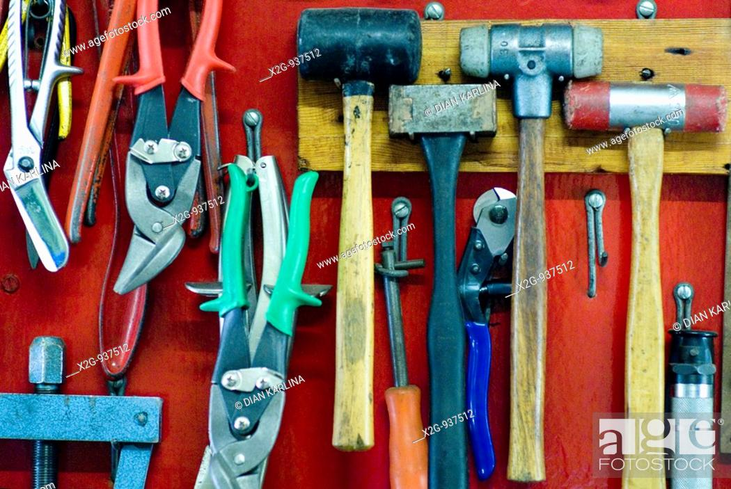 Stock Photo: Display of working tools.