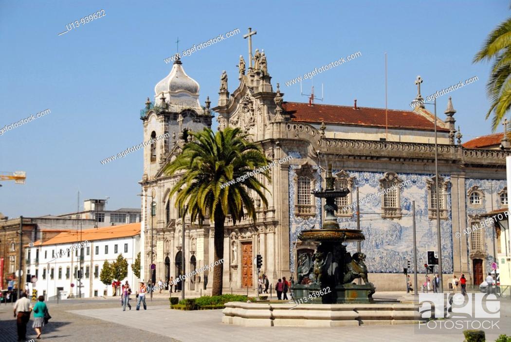 Stock Photo: Igreja das Carmelitas church, Porto, Portugal.