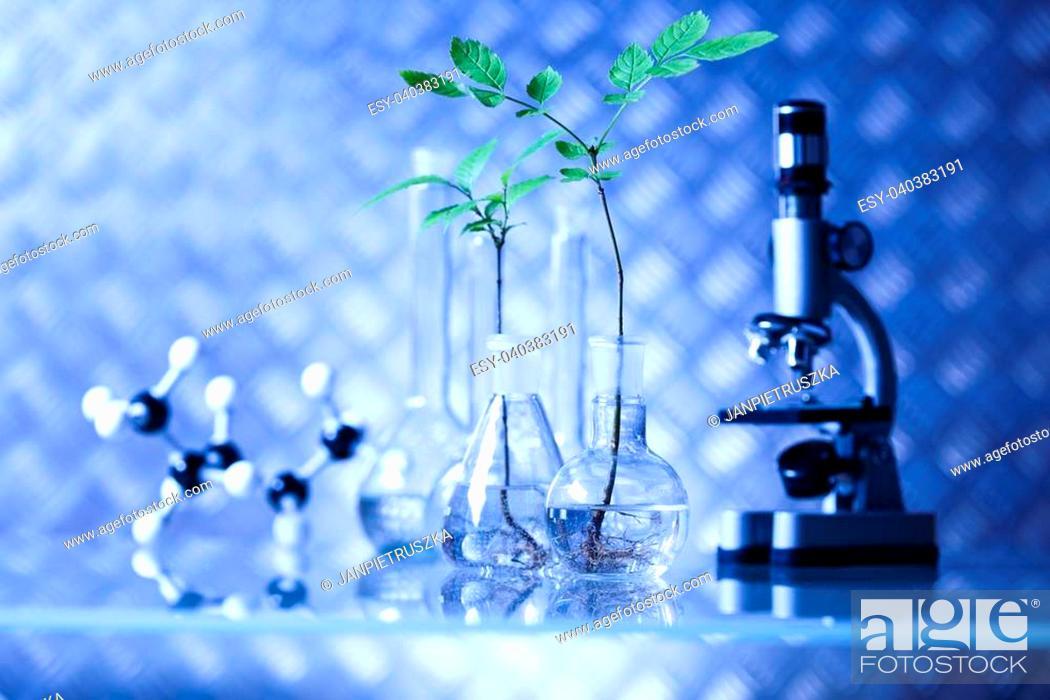 Stock Photo: Molecular Model - Laboratory glass.