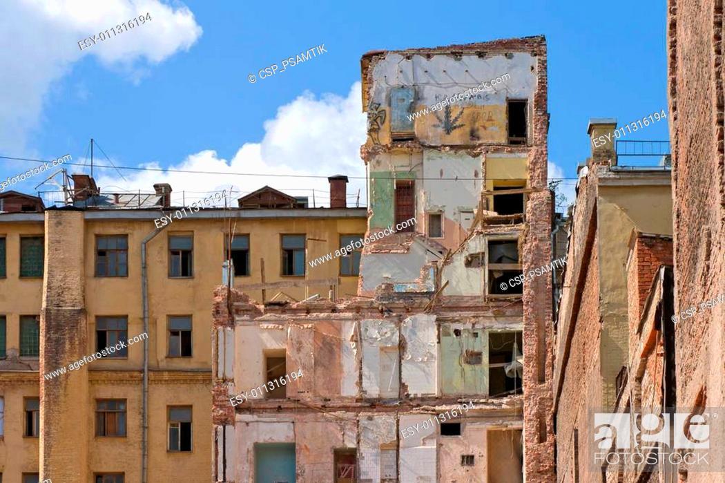 Stock Photo: damaged building.