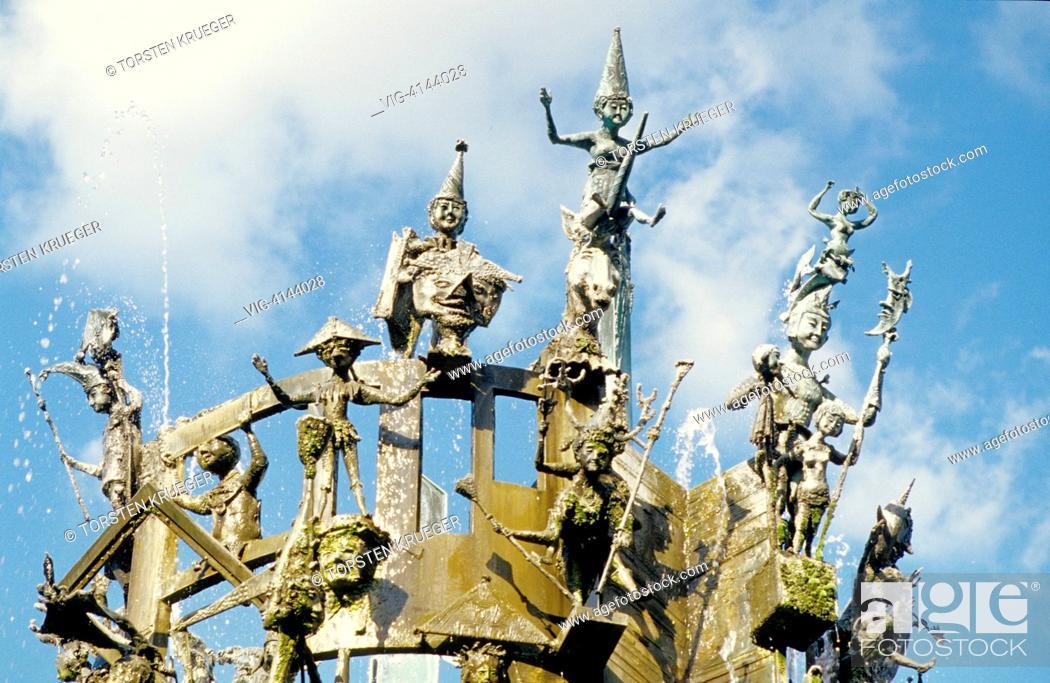 Stock Photo: Germany, Mainz : Fastnachts Fountain.