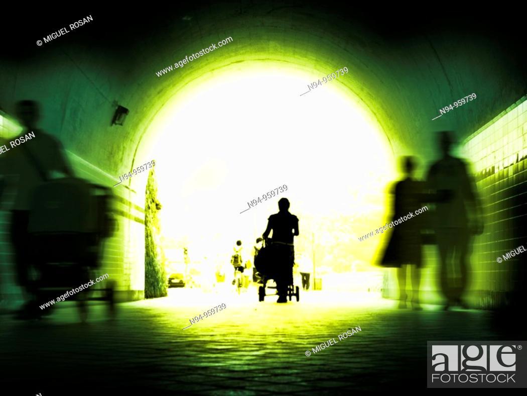 Stock Photo: Pedestrian tunnel.