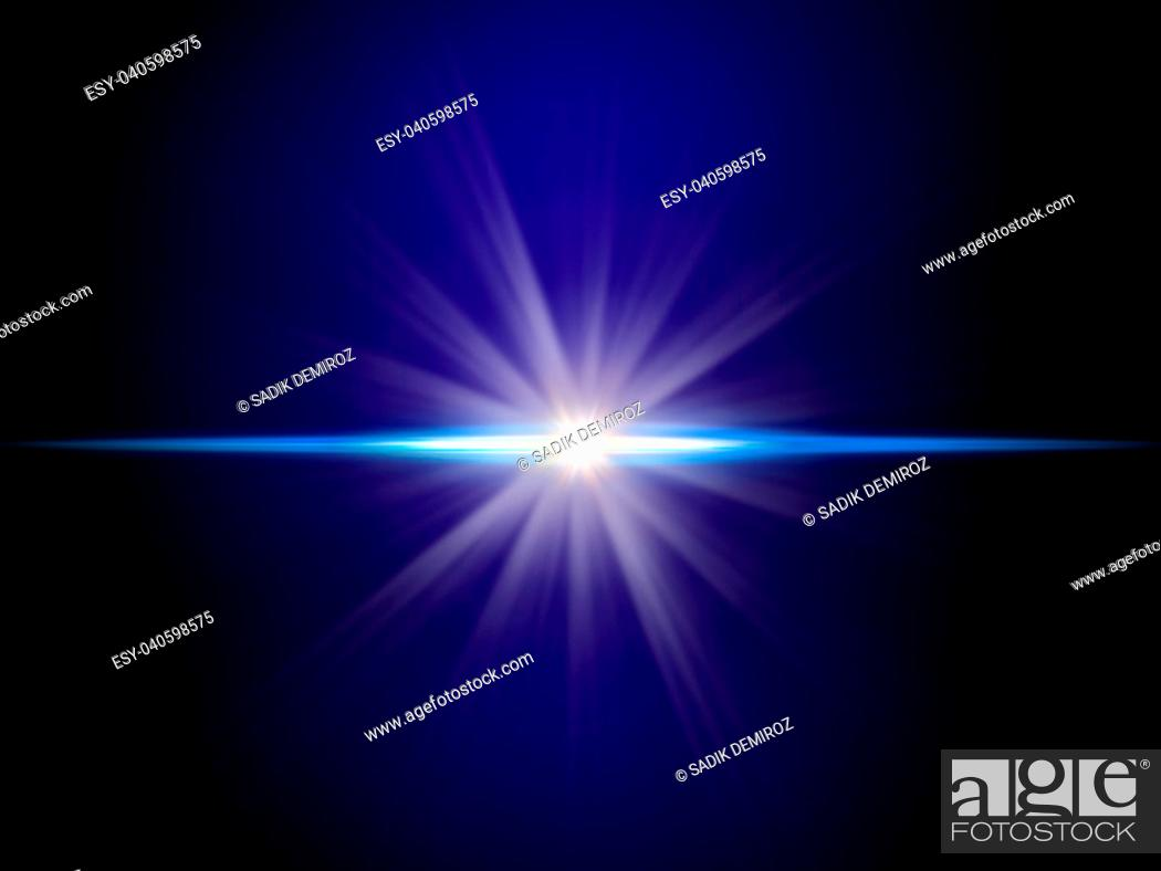 Imagen: background image of defocused abstract lights and beam of light over blue background.