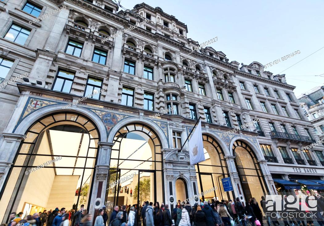 Apple store on Regent Street, London, UK, Stock Photo, Picture And