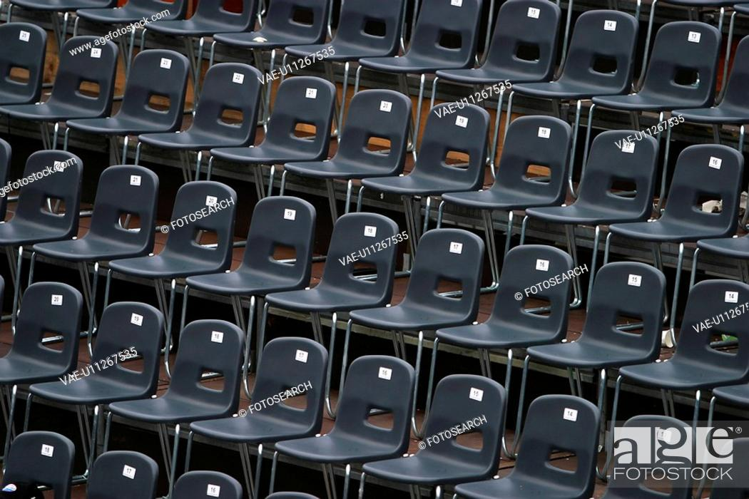 Stock Photo: chairs, seats, seating, array, arrangement, layout.