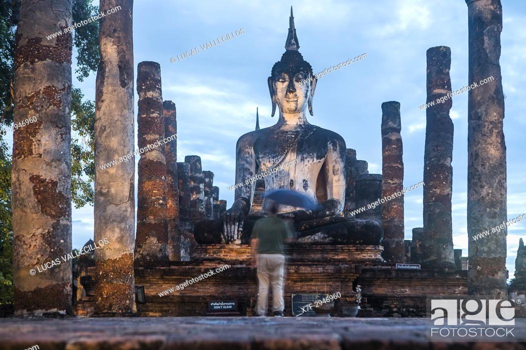 Stock Photo: Wat Mahathat, Sukhothai Historical Park, Sukhothai, Thailand.