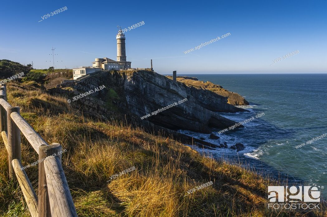 Stock Photo: Cabo Mayor lighthouse. Santander, Cantabrian Sea. Cantabria, north Spain. Europe.