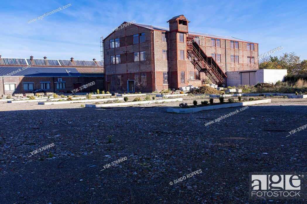 Stock Photo: Herve, Belgium. Old and Abandoned industrial building in the Walloon District, example of the economic decline for decades inside the region.