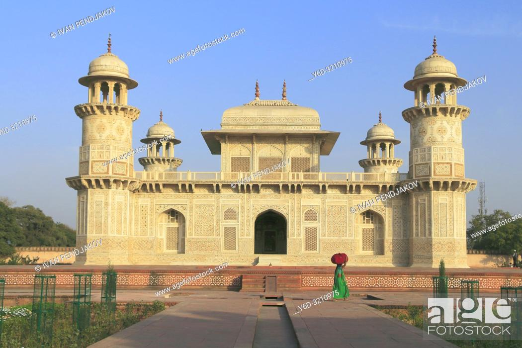 Stock Photo: Itmad-ud-Daula, Agra, Uttar Pradesh, India.