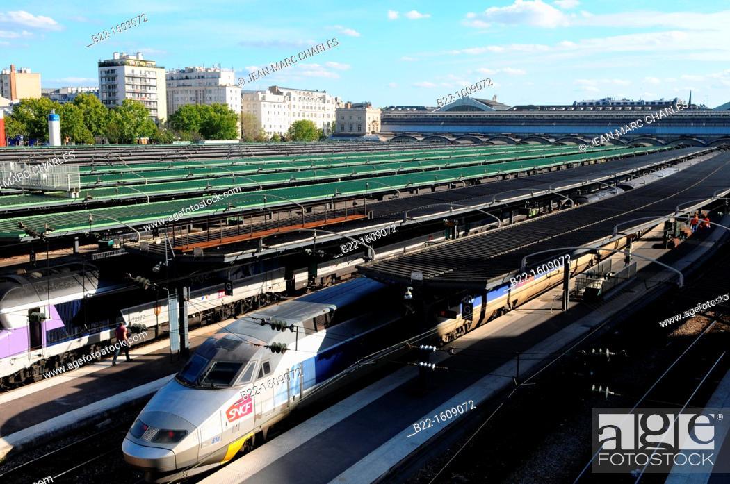 Stock Photo: Paris-Est, Gare de l'Est railway station, Paris, France.