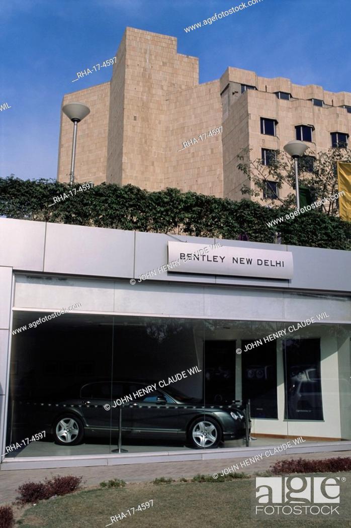 Stock Photo: New Bentley showroom, Ashoka Hotel, New Delhi, Delhi, India, Asia.