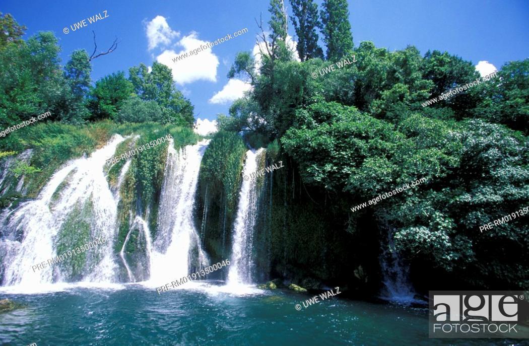 Stock Photo: Waterfall, Roski Slap, Krka National Park, Croatia,.
