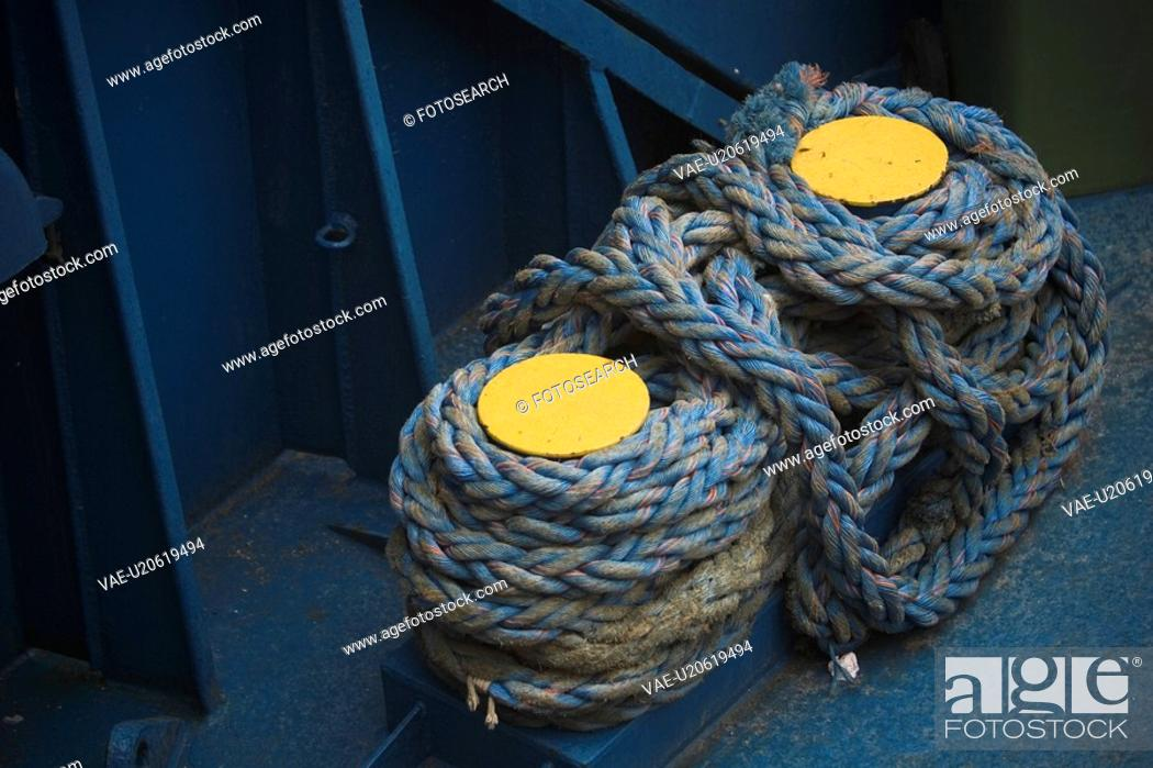 Stock Photo: Arrangement, Cord, Coiled, Close-Up, Appearance.