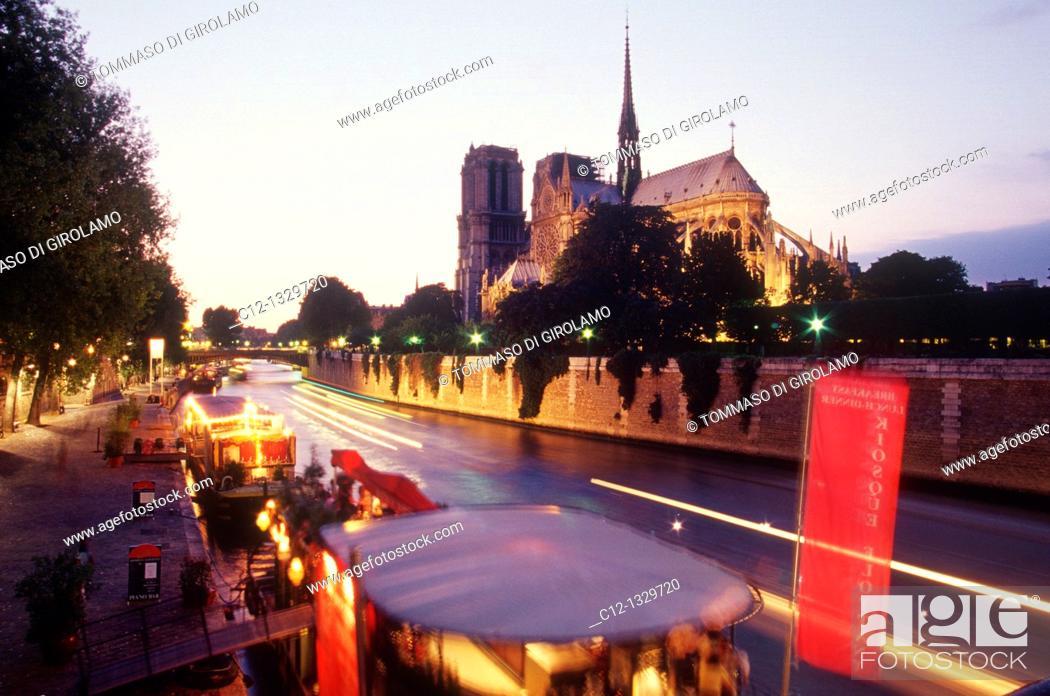 Photo de stock: France, Paris, Notre Dame.