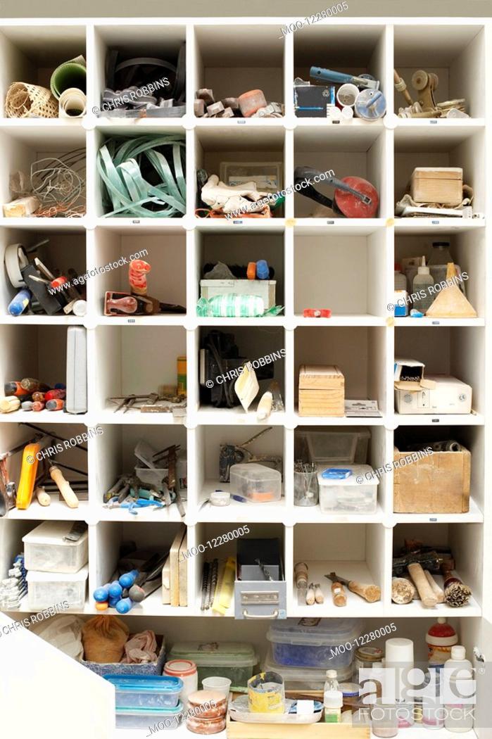 Stock Photo: Tool Shelves.