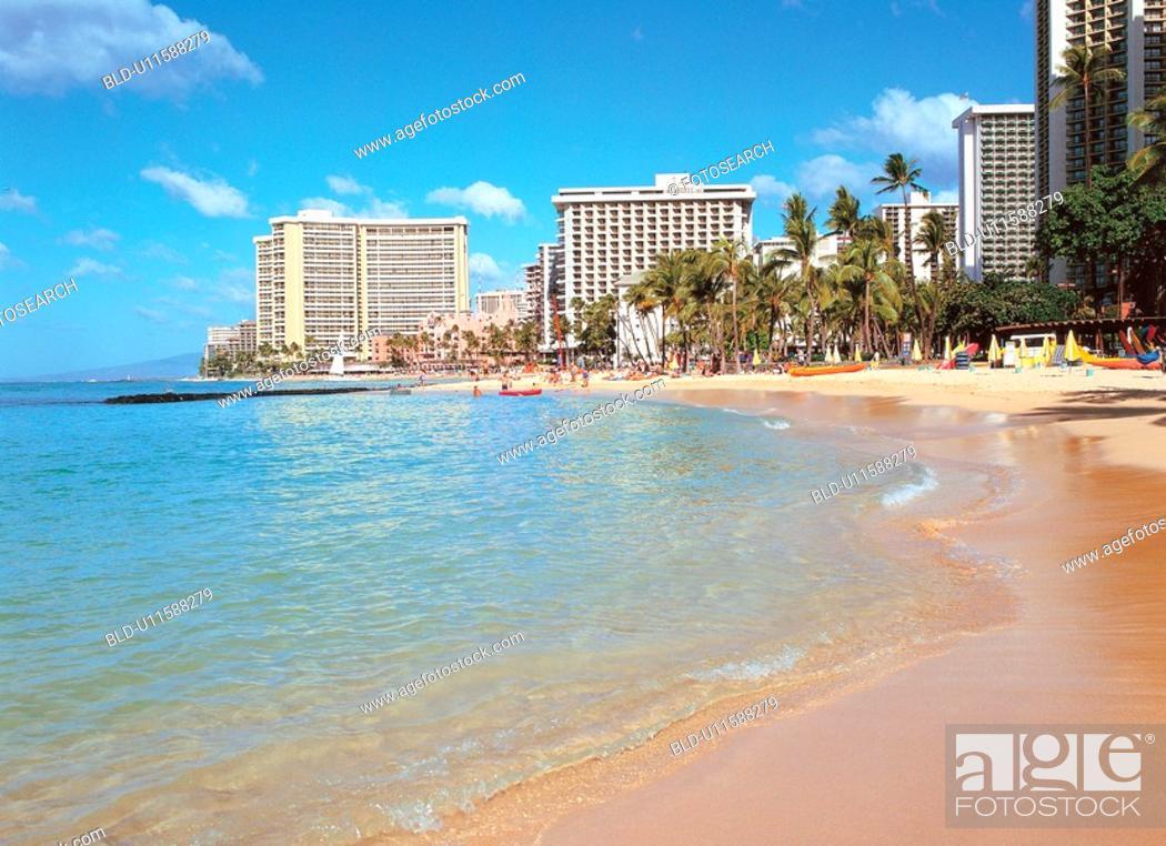 Stock Photo: beach, scenery, ocean, sea, landscape, resort.