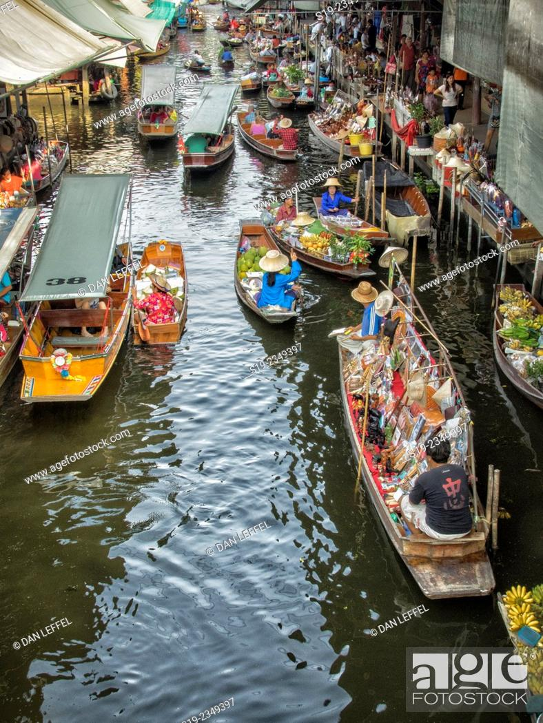 Stock Photo: Bangkok Floating Market.