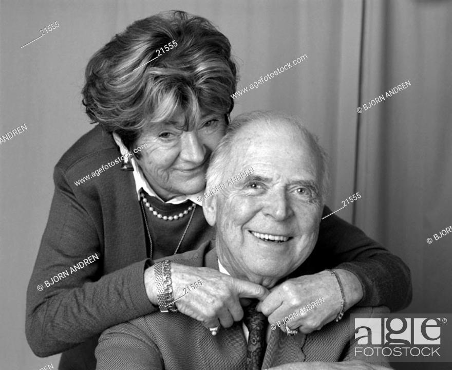 Stock Photo: Elderly couple.