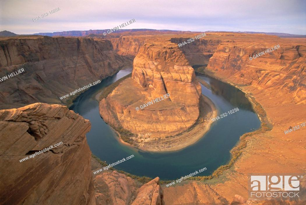 Stock Photo: Muleshoe Bend, Colorado River, Glen Canyon, Arizona, USA, North America.