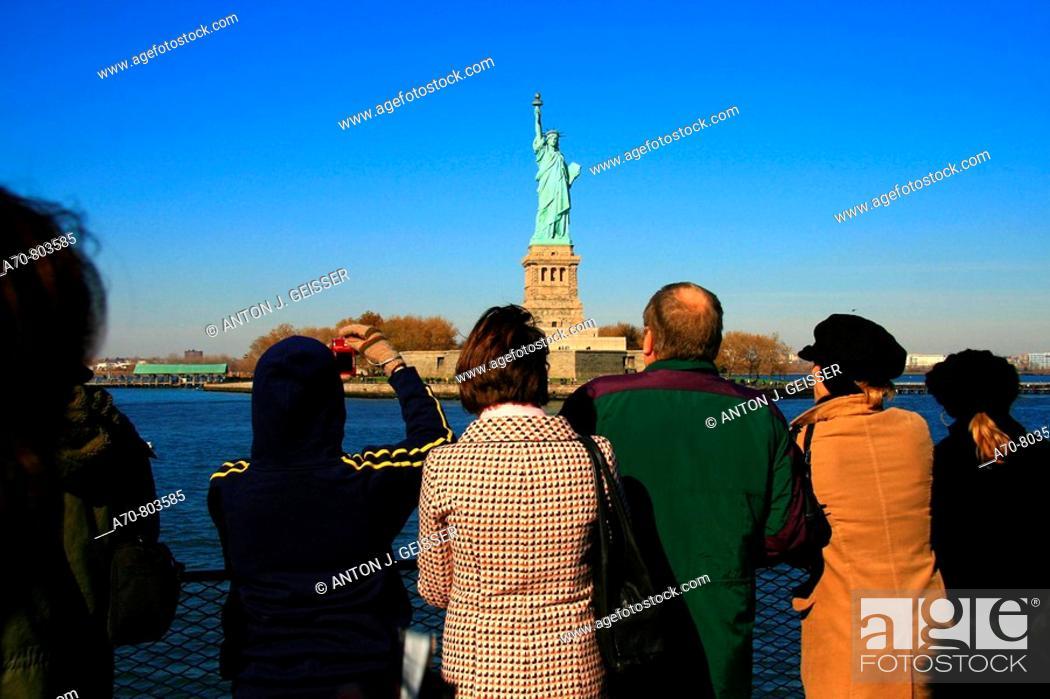Stock Photo: USA, New York City, tourists.