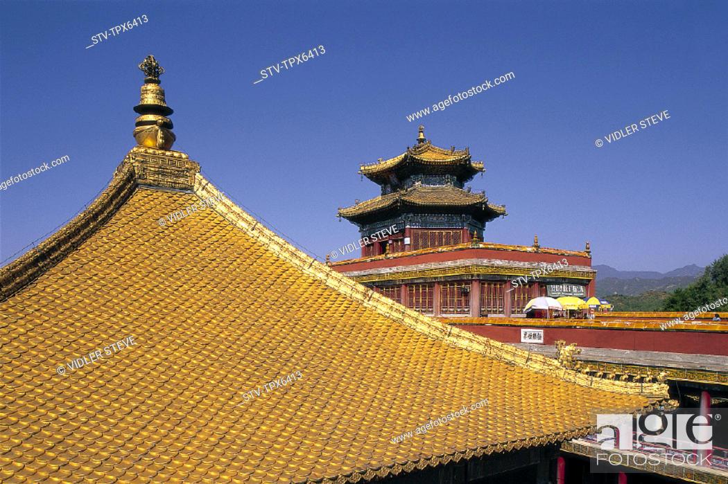 Imagen: Architecture, Asia, Chengde, China, Chinese, Doctrine, Golden, Hebei, Heritage, Holiday, Landmark, Pagoda, Potaraka, Province, P.
