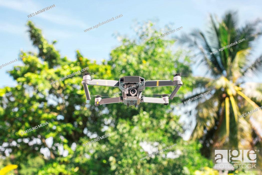 Stock Photo: Flying drone.