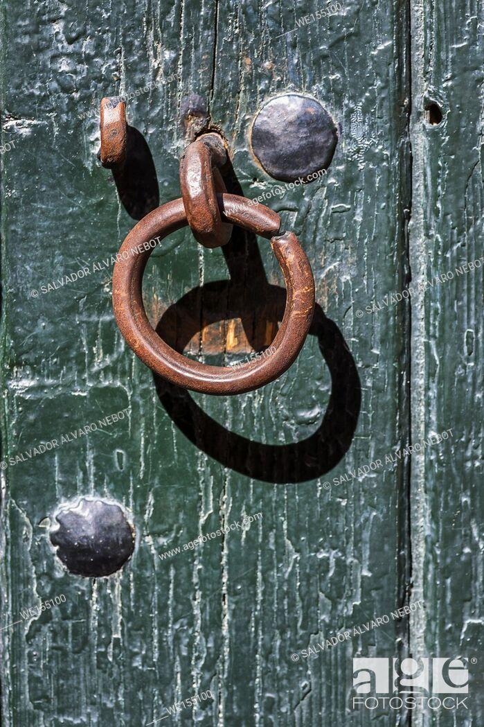 Stock Photo: Knocker in the door.