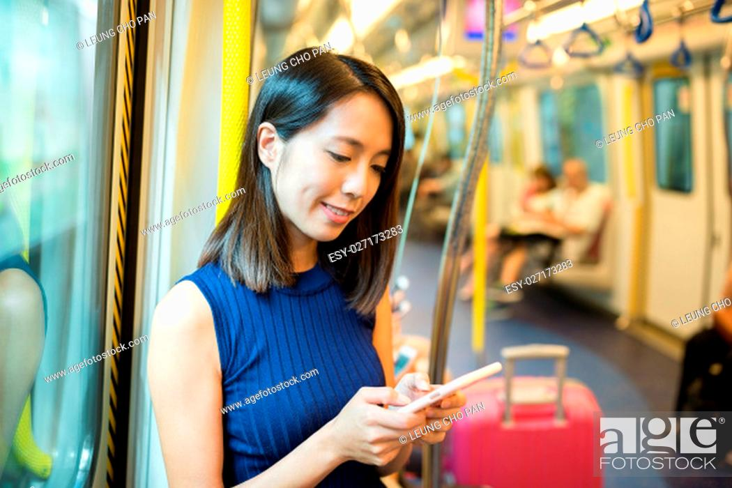 Stock Photo: Woman use of smart phone.