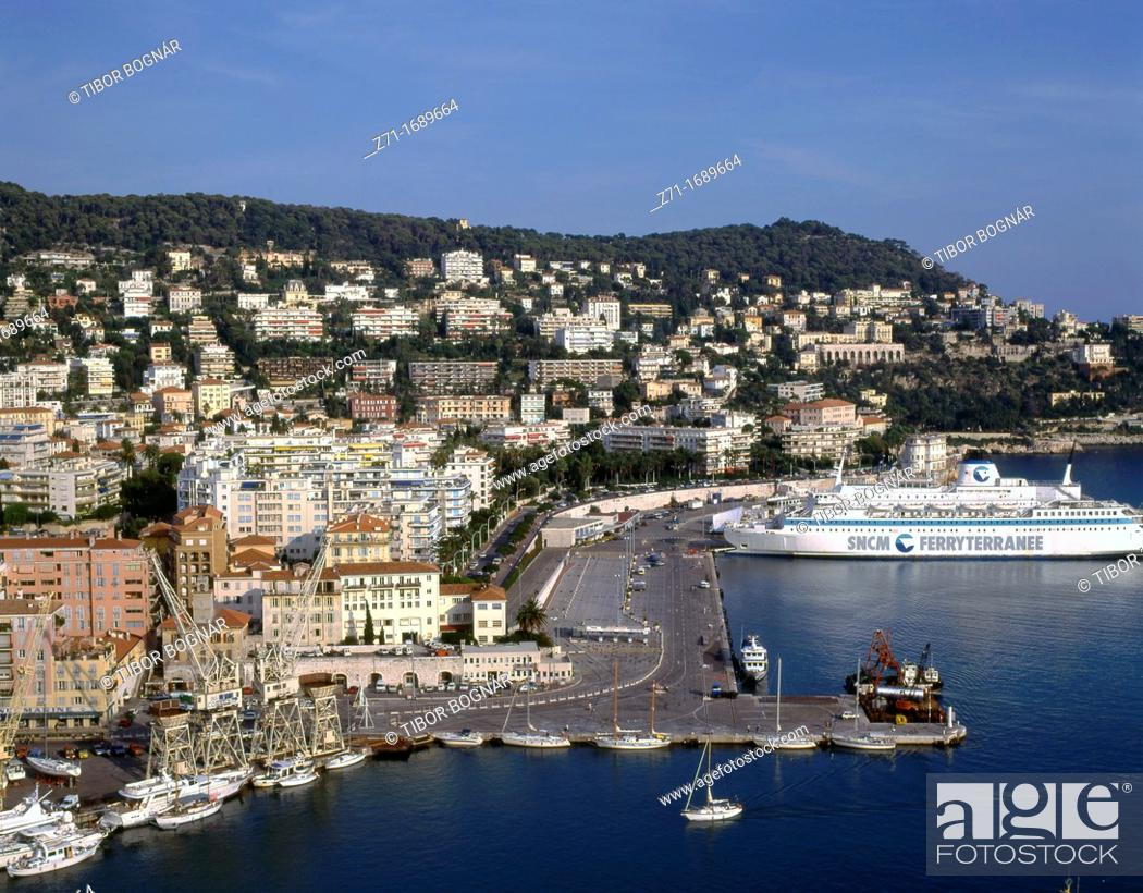 Stock Photo: France, Côte d'Azur, Nice, harbour, aerial view.