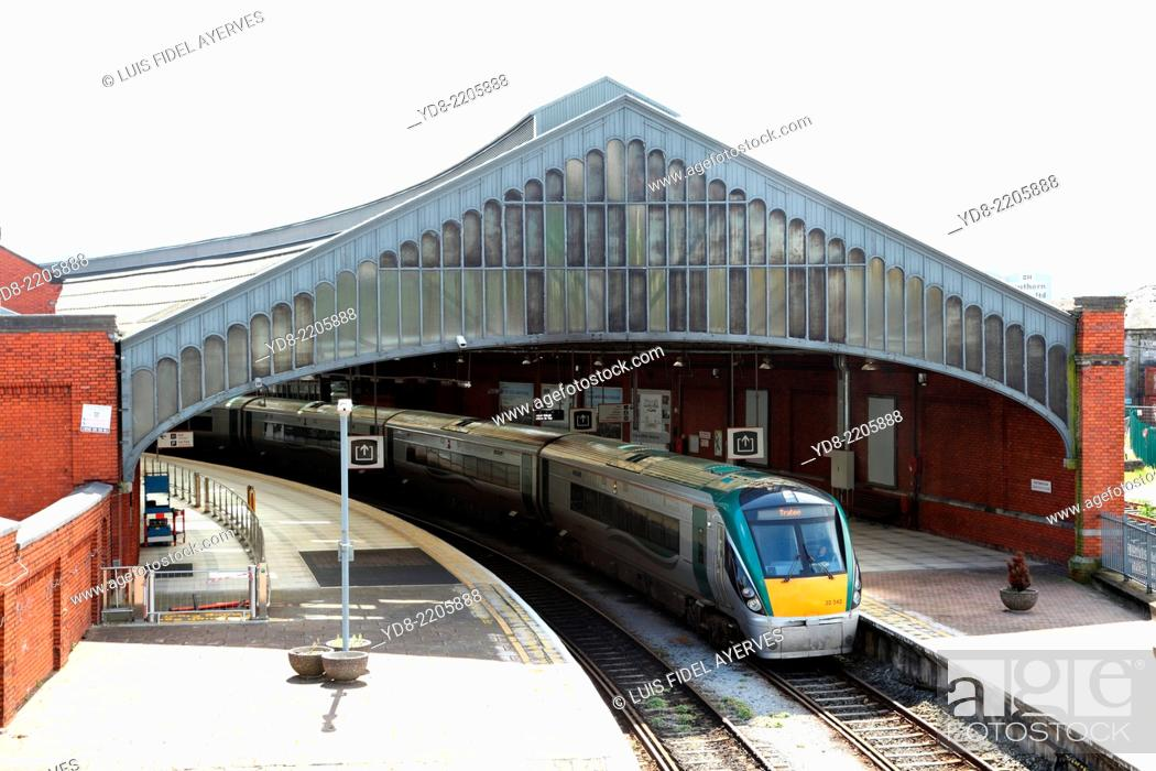 Stock Photo: Train station of the city of Cork, Ireland, Europe.