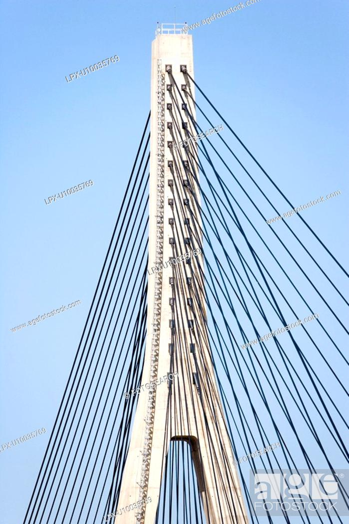 Stock Photo: Guadiana Bridge between Portugal and Spain.