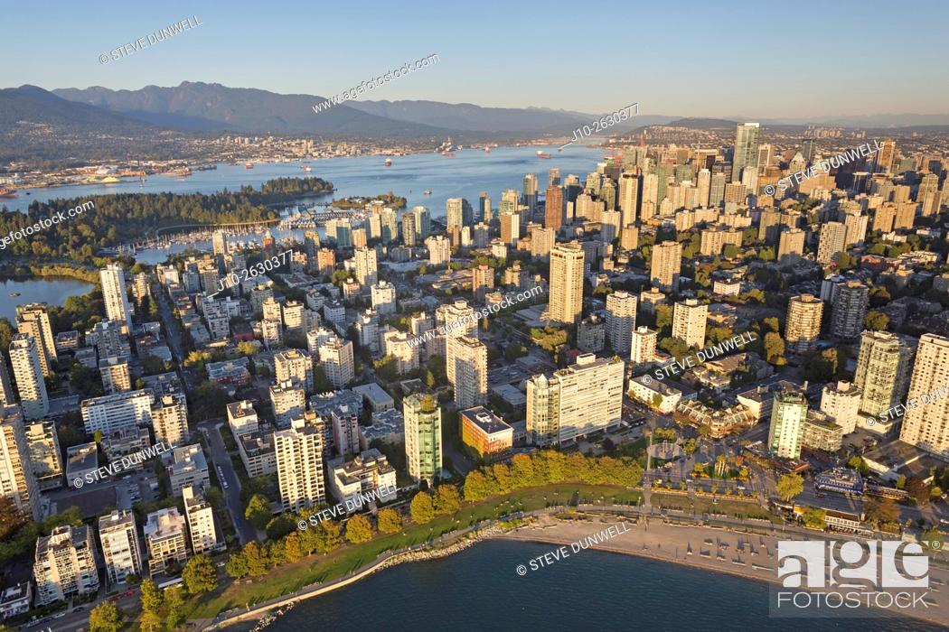 Stock Photo: Aerial view of Vancouver, BC, Canada.
