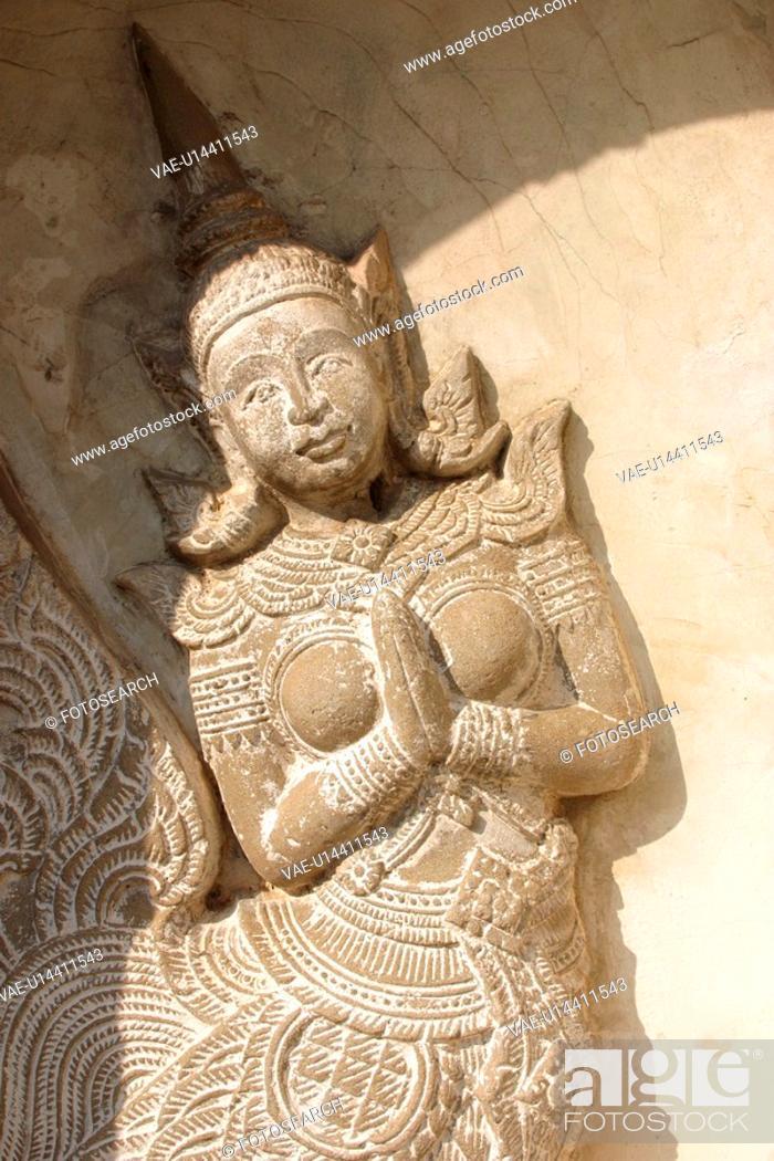 Stock Photo: religious, figure, Buddha, temple, Thailand, Buddhism.