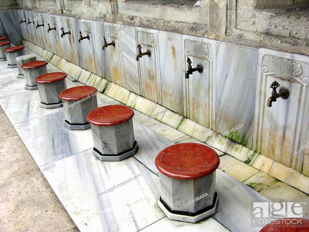 Stock Photo: Washing place at Eyüp Sultan Mosque, Istanbul. Turkey.