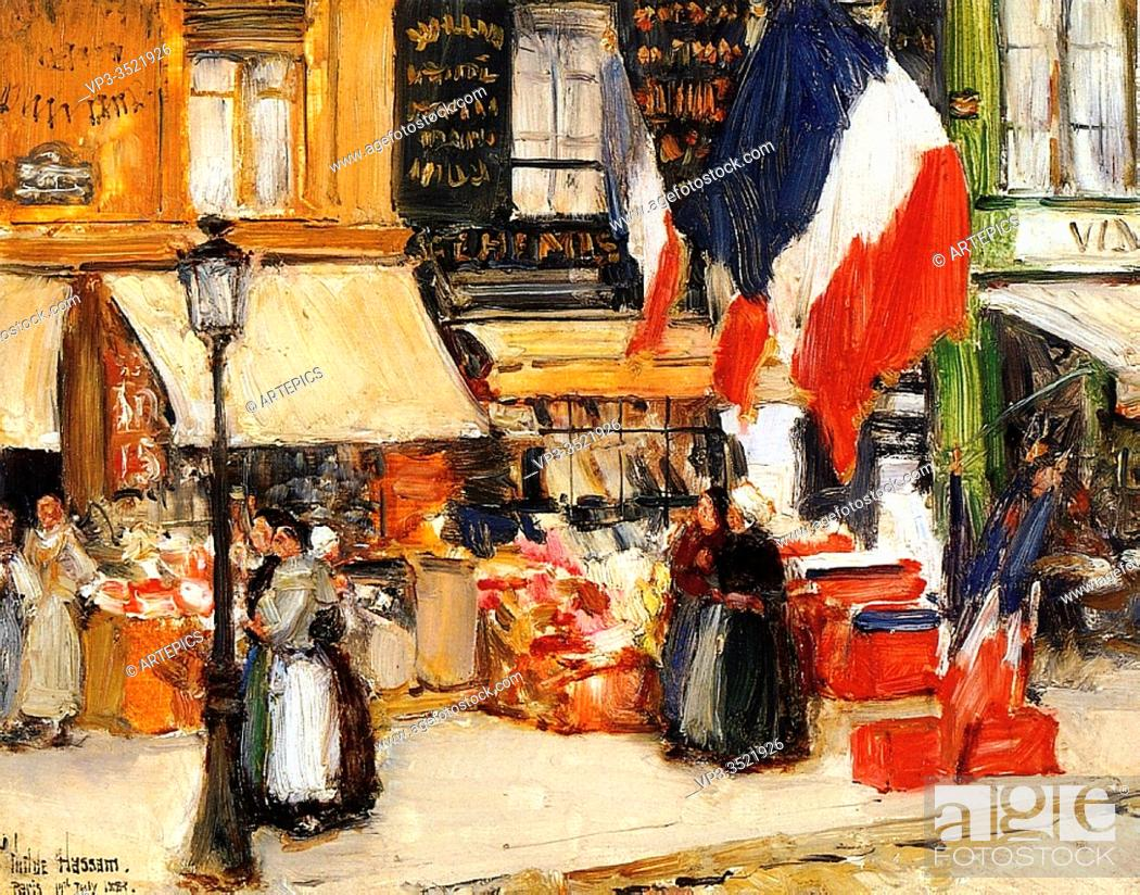Imagen: Frederick Childe Hassam - Bastille Day Boulevard Rochechouart Paris 1889.