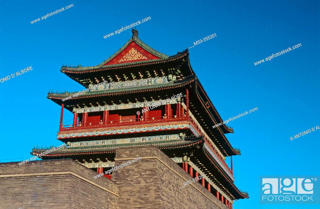 Stock Photo: Qianmen gate, Beijing. China.