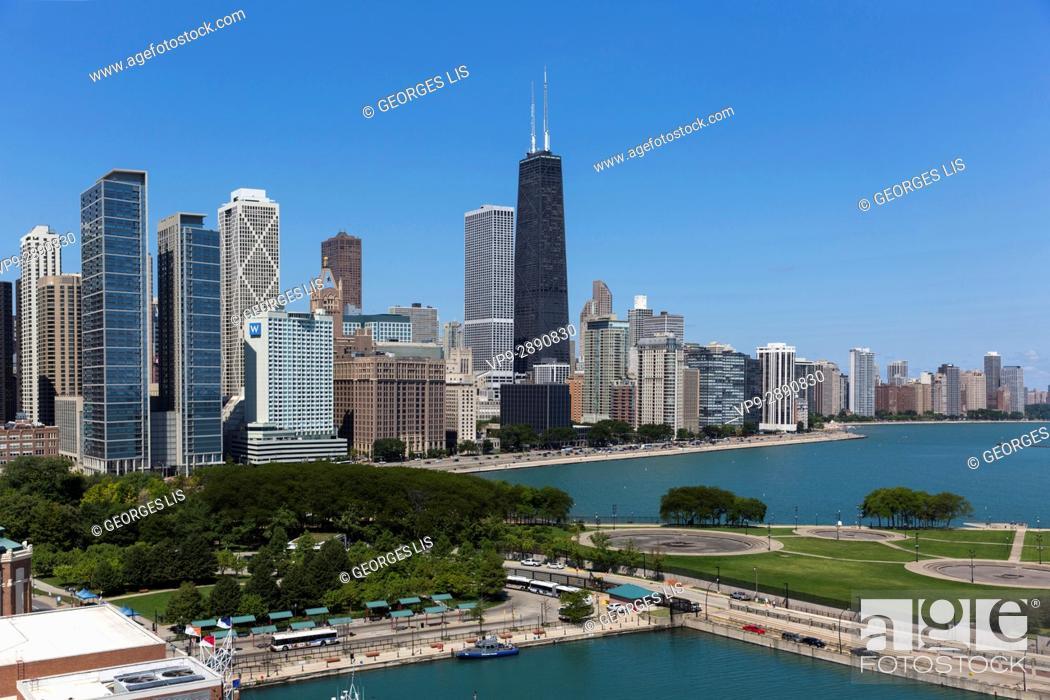 Imagen: Chicago skyline from Ferris Wheel Navy Pier Willis Tower.