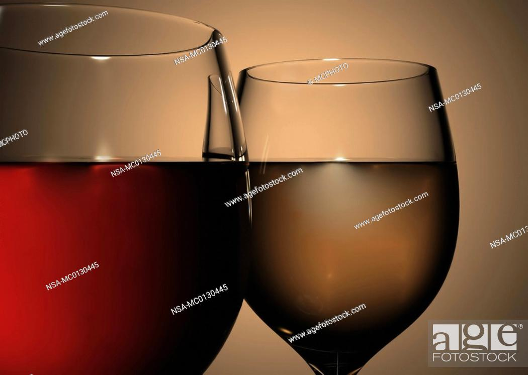Stock Photo: close up of wine glasses.