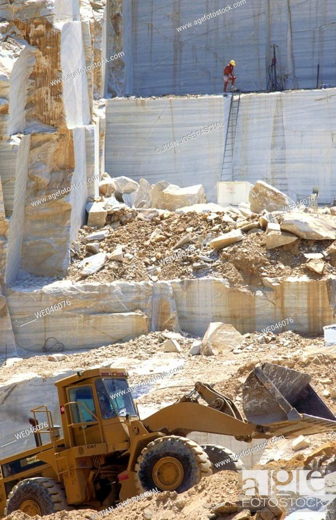 Stock Photo: Marble quarry, Macael. Almería province, Andalusia, Spain.