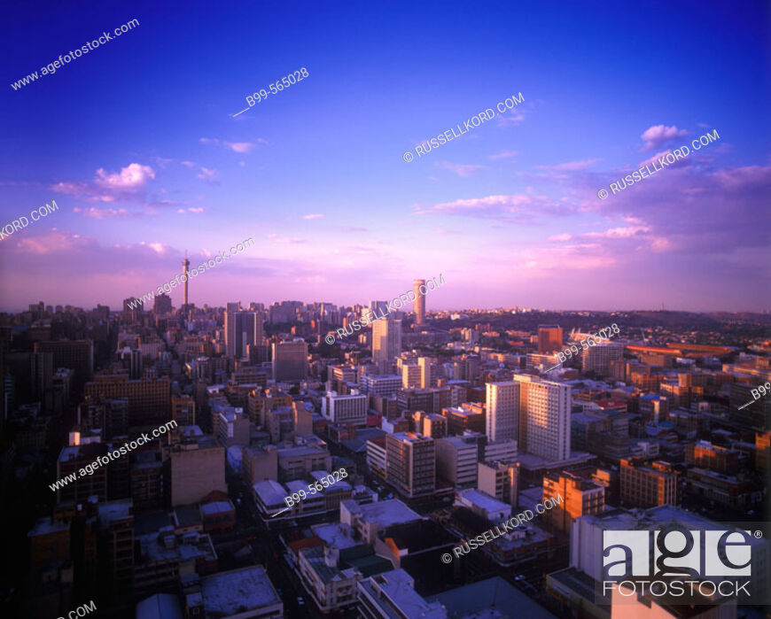 Stock Photo: Downtown Skyline, Johannesburg, South Africa.