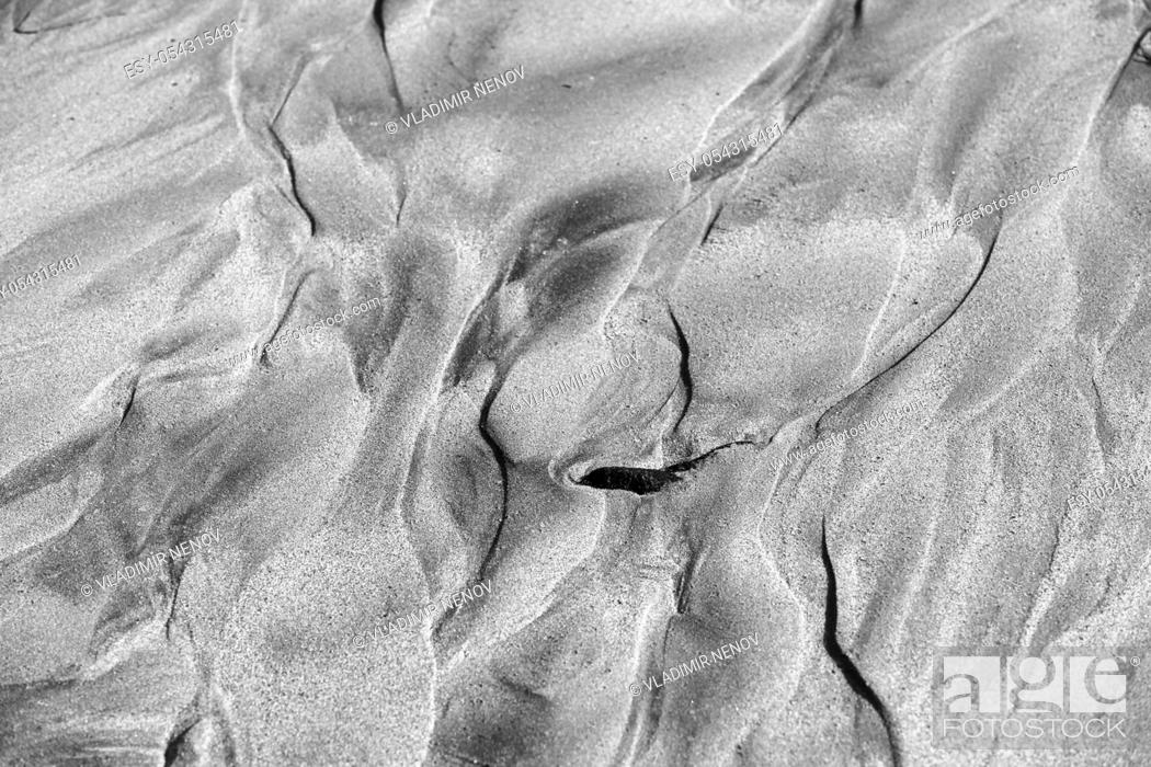 Imagen: Abstract Image of Sea Sand Formed After Tide.