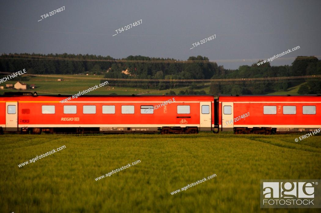 Stock Photo: Regional train of Deutsche Bahn AG.